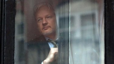 Julian Assange lives at the Ecuadorian embassy in London.