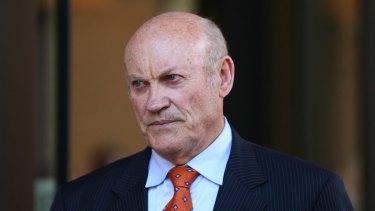 Ian Macdonald leaves the NSW Supreme Court in May.