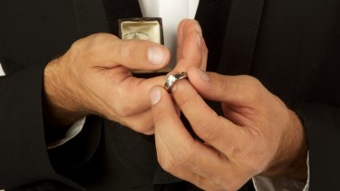 The engagement ring's premise is unsavoury.