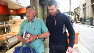 Barry Lyttle was released on bail and left court with his father.