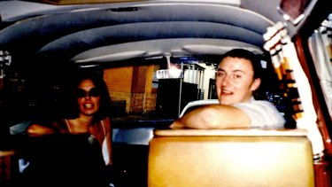 Joanne Lees and Peter Falconio in their campervan before Mr Falconio's murder.
