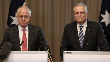Prime Minister Malcolm Turnbull and Treasurer Scott Morrison during the election campaign.