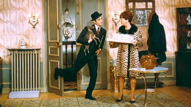 Pierre Etaix and Annie Fratellini in Le Grand Amour.