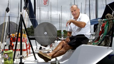 Experienced: Skipper Ed Psaltis is preparing for a 35th Sydney to Hobart race.