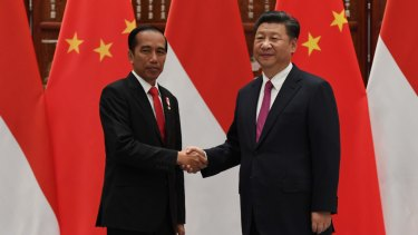 Indonesian President Joko Widodo and Chinese President Xi Jinping.