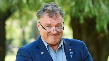 Senator Rod Culleton faces the music in Perth on Wednesday.