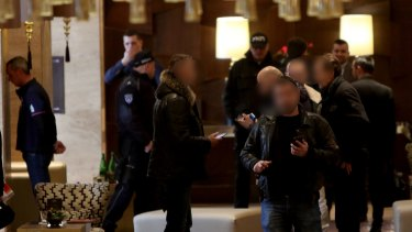 Rohan Arnold, left, was among three Australians and one Lebanese citizen arrested in the raid at the Metropol Palas Hotel, Belgrade.