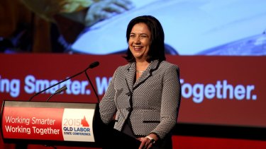 Queensland Premier Annastacia Palaszczuk will meet the world's first robot to read feelings on her trade mission to China and Japan.