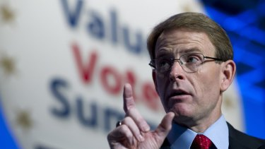 Family Research Council president Tony Perkins speaks in Washington in 2013.