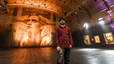 Artist Rone is having an exhibition of his work in the old Lyric Theatre in Fitzroy.