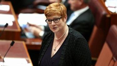 Big promotion: Senator Marise Payne.