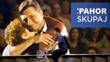 Slovenia's President  Borut Pahor was returned to office with 53 per cent of the vote.