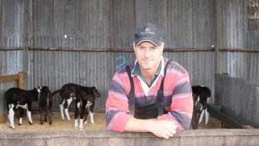 United Dairyfarmers of Victoria president Adam Jenkins, of South Purrumbete.