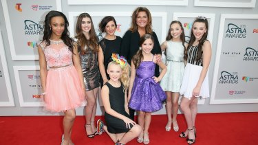 The cast of <i>Dance Moms</i> attend the Astra Awards on their second Australian tour in May 2015. Dance teacher Abby Lee Miller is pleading guilty to US federal charges regarding bankruptcy fraud and failure to declare cash following the show's first Australian tour in 2014.