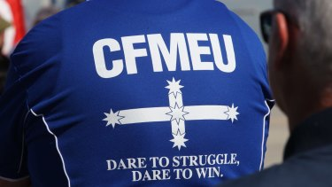 """A CFMEU organiser with a history of criminal offences convinced the workplace tribunal he was """"no longer fiery""""."""