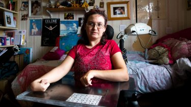 """Genevieve Buckingham says her experience with the NDIS has left her feeling """"isolated and worthless""""."""