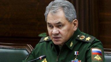 Russian Defense Minister Sergei Shoigu.