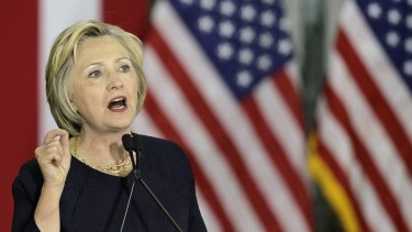 Democratic presidential candidate Hillary Clinton on the campaign trial in Cleveland on Monday.