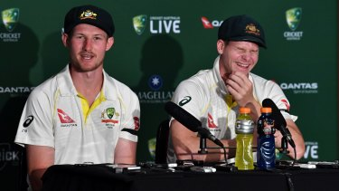 Steve Smith is in stitches at questions asked of Cameron Bancroft about England wicketkeeper Jonny Bairstow.