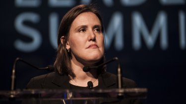 Minister for Revenue and Financial Services Kelly O'Dwyer. The government is backing industry self-regulation which critics argue is not enough.