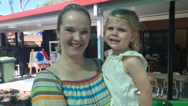 Brisbane mum Liz Howes, 37, with daughter Isobel, 3.