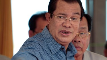 Prime Minister Hun Sen's government asked the court to dissolve the party, accusing them of trying to overthrow the government.
