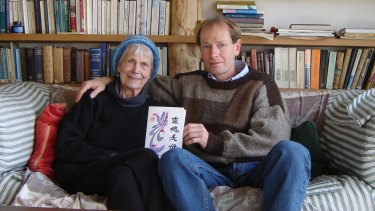 Sean Davison and his mother Patricia at her home near Dunedin, in August 2006, two months before her death.