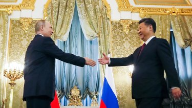 Russia's Vladimir Putin and China's Xi Jinping, two virtual dictators bonded by mutual self-interest.