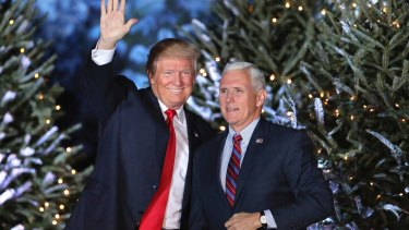 President-elect Donald Trump with Mike Pence.