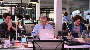 In the movie Intern, Ben Whittaker (Robert De Niro) takes on a job as a a senior intern at an online fashion site.