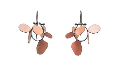 Wattle earrings by Yuko Fujita.