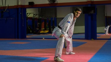 Taekwondo star Safwan Khalil is in training for the Rio Olympics.