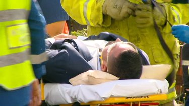 Mehajer was taken to Westmead Hospital after the accident.