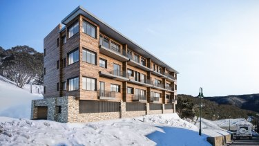 An artist's impression of the proposed Ski Club Victoria project, The Whitt Apartments in Mt Buller.