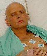 Former Russian security agent Alexander Litvinenko in his hospital bed at the University College Hospital in central London on November 20, 2006. He died two days later.