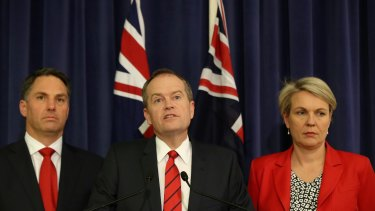 Labor's immigration spkesman Richard Marles, leader Bill Shorten and deputy Tanya Plibersek may not be on the same page on detention policy.