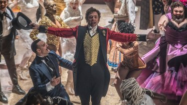 Hugh Jackman as P. T. Barnum in The Greatest Showman.