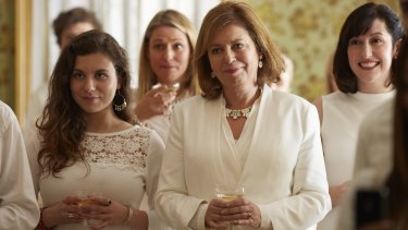 Gina Riley (second from right) and Celia Pacquola (far right) in The Beautiful Lie.