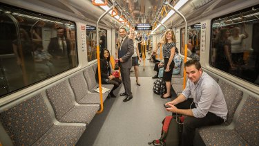 An artist's impression of the second stage of the new metro line from Chatswood to Bankstown via the CBD.