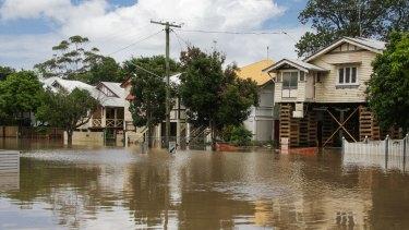 Welsby Street New Farm in Brisbane's 2011 floods.