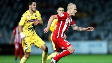 Marquee performer: Aaron Mooy attacks against Central Coast last weekend.
