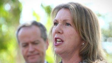 Labor health spokeswoman Catherine King with Opposition Leader Bill Shorten.