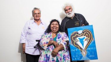 Shirley McGee, Fay Moseley and Colin Davis in Sydney on Thursday.