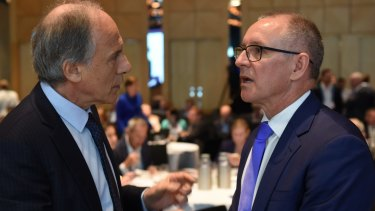 Chief Scientist Dr Alan Finkel and South Australian Premier Jay Weatherill.