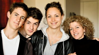 Phoebe with her brothers and mother. L-R Nikolai, Thomas, Phoebe and Natalie.