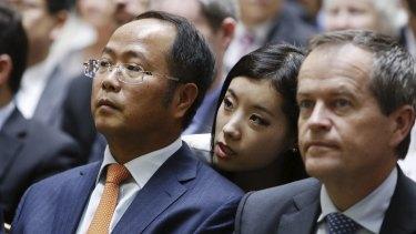 Huang Xiangmo and Bill Shorten.