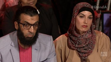 "Khaled Elomar asked Ms Hanson if her views were driven by ""hate, fear or ignorance?"""