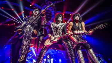 Glam rock legends Kiss rock and roll all night at the Brisbane Entertainment Centre.