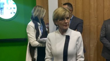 Foreign Minister Julie Bishop on the sidelines of the Paris climate summit.