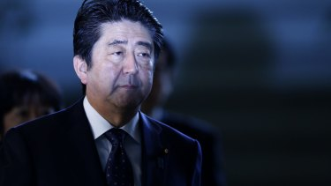 """Japanese Prime Minister Shinzo Abe is """"shocked"""" by an American textbook's depiction of World War II """"comfort women""""."""